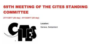 CITES Standing Committee @ 69th meeting of the CITES Standing Committee