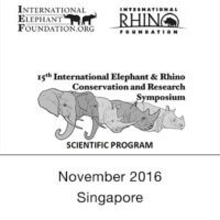 2016 Elephant – Rhino Conservation & Research Symposium