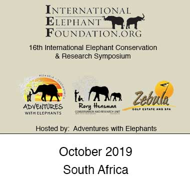 2019: 16th International Elephant Conservation & Research Symposium