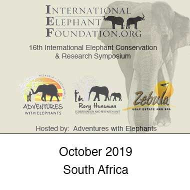 2019 Elephant Conservation & Research Symposium